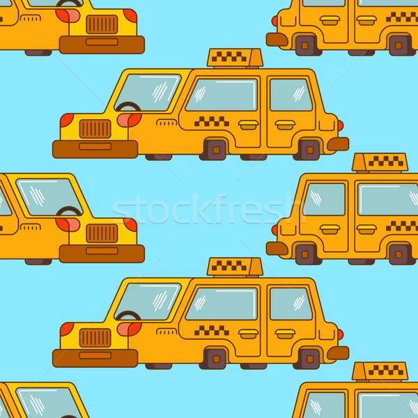 Taxi minta citromsárga autó közlekedés emberek Stock fotó © MaryValery