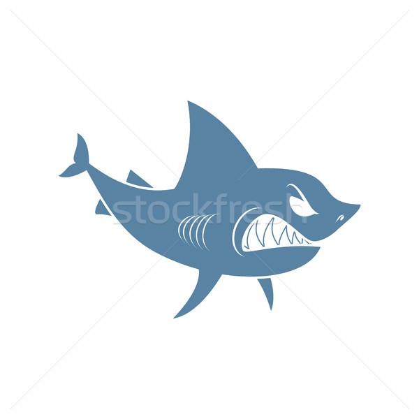 Shark isolated. Marine predator on white background Stock photo © MaryValery