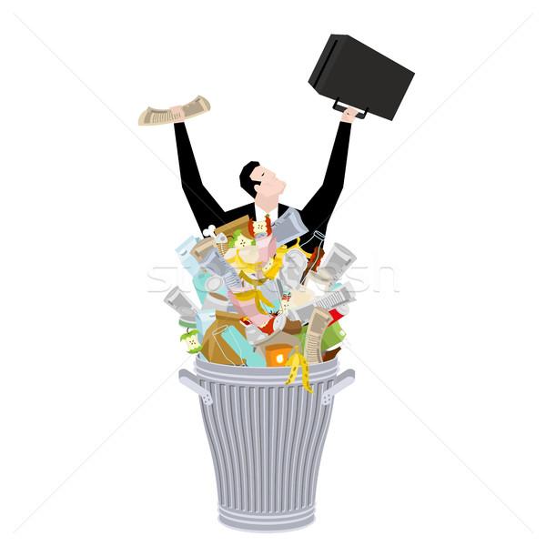 Empresário cesto de lixo negócio lixo amarrar caso Foto stock © MaryValery