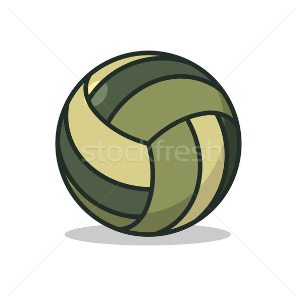 Military sport ball. Army Sports accessory for games. camouflage Stock photo © MaryValery