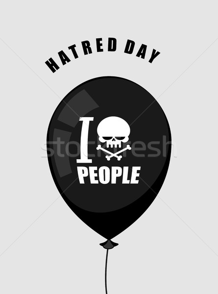 Haine jour haine personnes noir ballon Photo stock © MaryValery