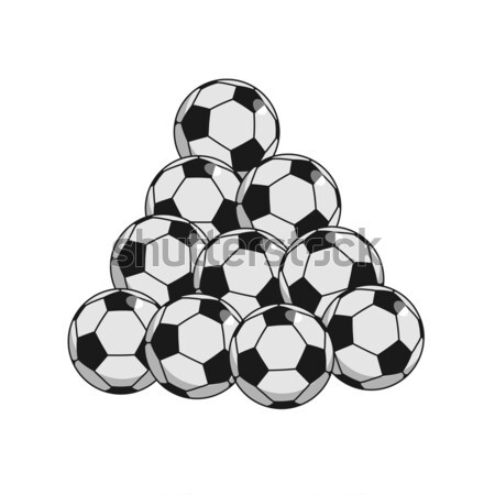 サッカーボール 孤立した サッカー ゲーム ストックフォト © MaryValery
