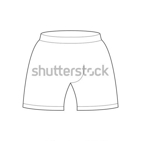 Shorts sjabloon ontwerp sportkleding lijn stijl Stockfoto © MaryValery