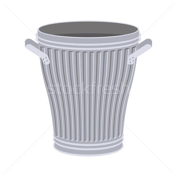 Cesto de lixo abrir isolado branco Foto stock © MaryValery