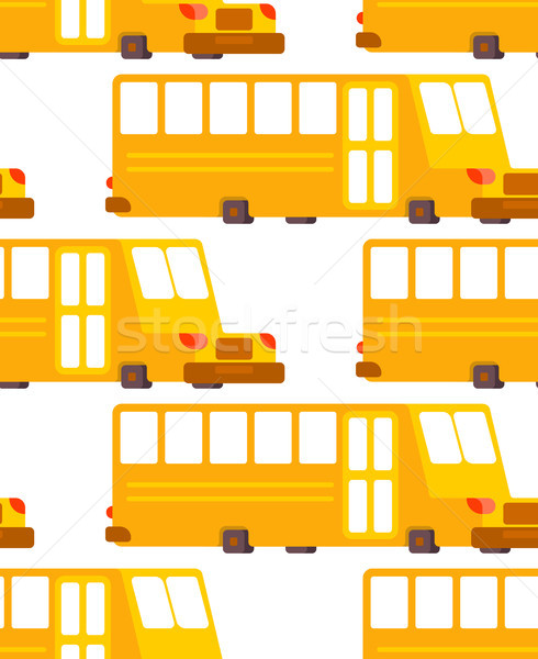 School bus pattern. Yellow bus for transportation of children Stock photo © MaryValery