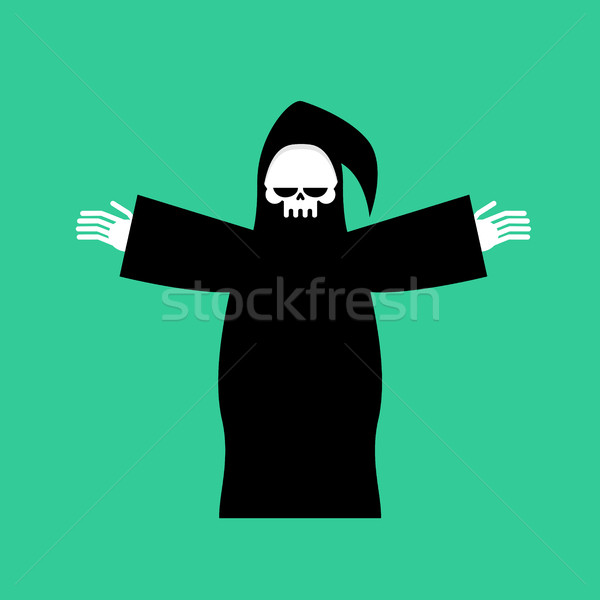 Grim Reaper Isolated. Death in hood on white background Stock photo © MaryValery