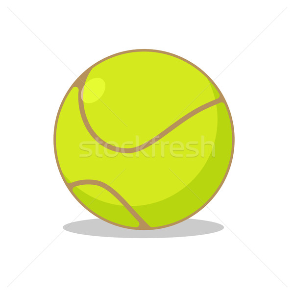 Tennis ball isolated. Sports accessories for tennis. Scope for s Stock photo © MaryValery