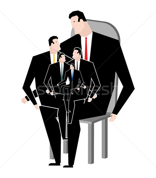 Business family. Office relatives. Corporate kinsfolk. generatio Stock photo © MaryValery