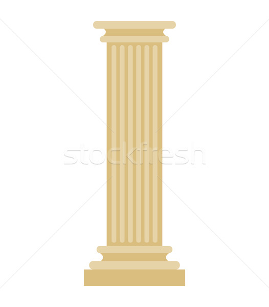 Greek Column isolated. Antique post. Ancient Architectural pilla Stock photo © MaryValery