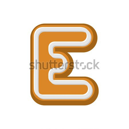 Letter B Gingerbread. Peppermint honey-cake font. Cookies alphab Stock photo © MaryValery