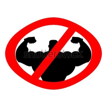 Stop atléta tilalom testépítés tilos fitnessz Stock fotó © MaryValery