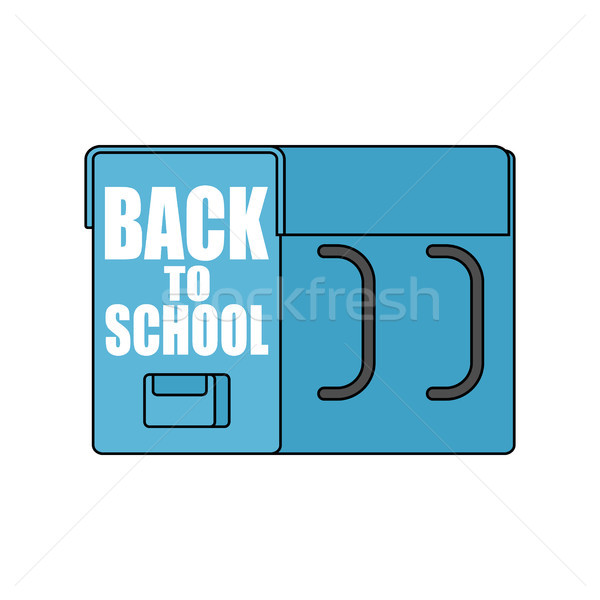 Back to school. big schoolbag. Illustration for September 1. Lar Stock photo © MaryValery