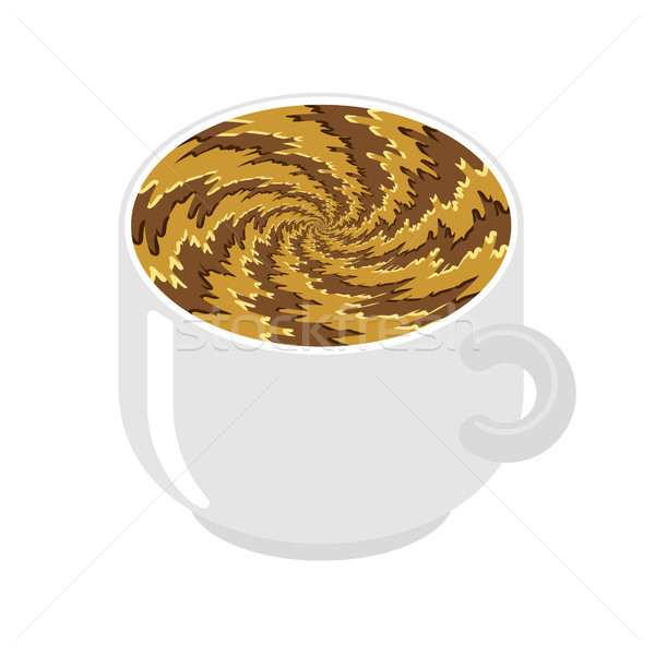 Hypnot coffee mug. hypnosis aroma swirl. Invigorating Hypnotic d Stock photo © MaryValery