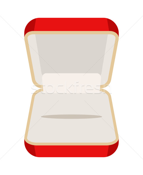 Open an empty box for jewelry. Beautiful red box for rings or ea Stock photo © MaryValery