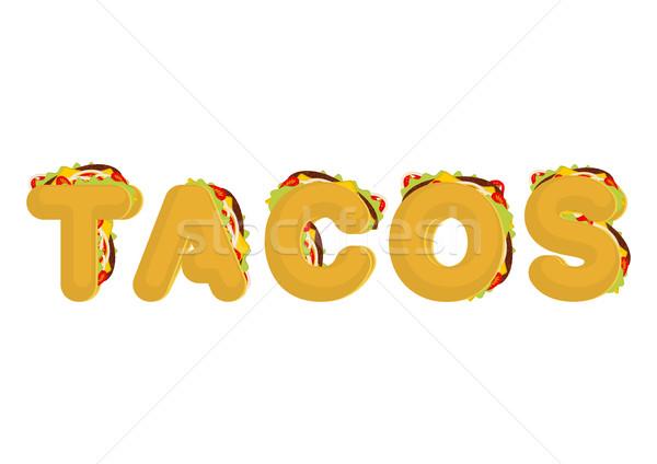 タコス メキシコ料理 ファストフード フォント タコス 文字 ストックフォト © MaryValery