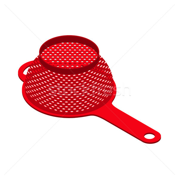 Stock photo: Colander isolated isometry. Pastafarianism cap. Cooking utensils