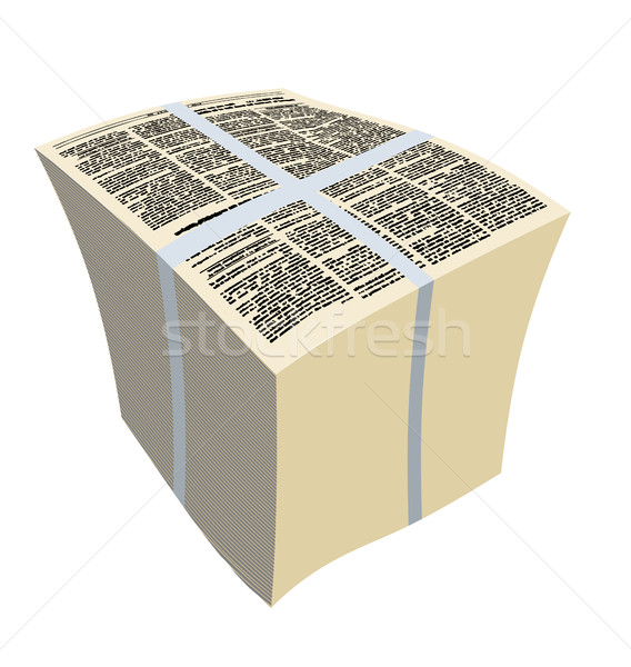 Bundle newspapers. Stack of magazines. Vector illustration Stock photo © MaryValery