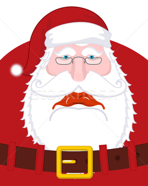 Sad Santa Claus and belt. dull Christmas grandfather. sorrowful  Stock photo © MaryValery