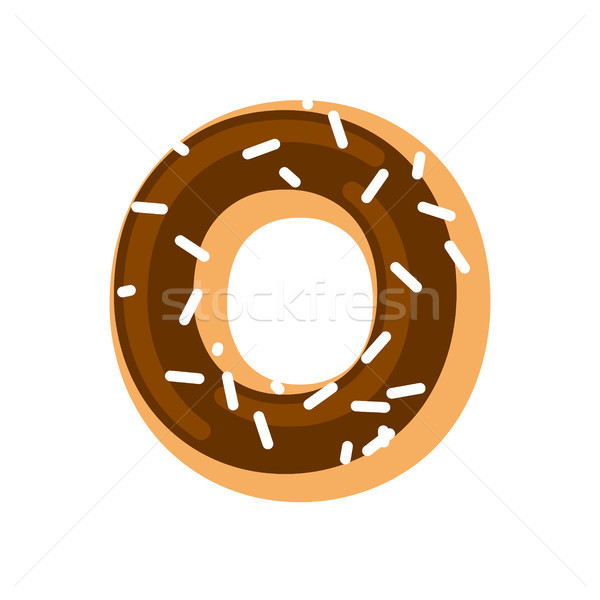Letter O donut font. Doughnut alphabet. Sweet lettering. candy A Stock photo © MaryValery