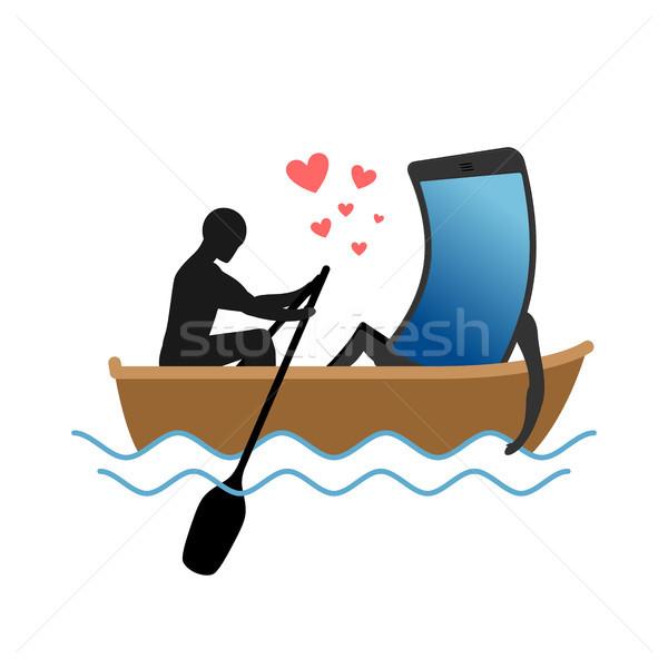 Homem barco sempre Foto stock © MaryValery