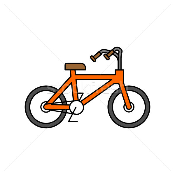 Bicycle isolated outline style. BMX linear style on white backgr Stock photo © MaryValery