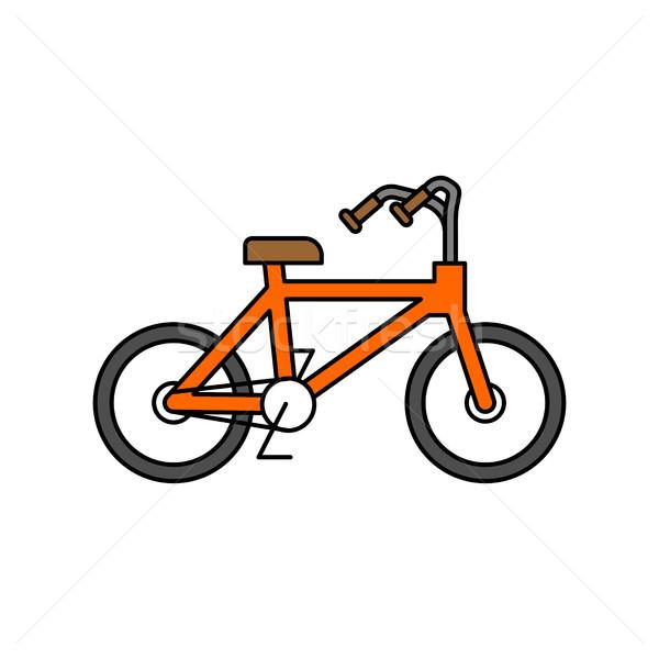 Fahrrad isoliert Gliederung Stil linear weiß Stock foto © MaryValery