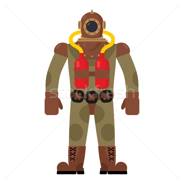 Diver old diving suit. Retro clothing for scuba diving. Vintage  Stock photo © MaryValery