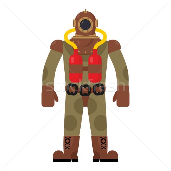 Diver старые дайвинг костюм ретро одежду Сток-фото © MaryValery