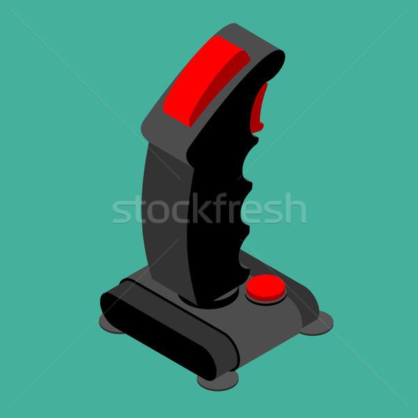 Rétro joystick isolé vieux gamepad roue Photo stock © MaryValery
