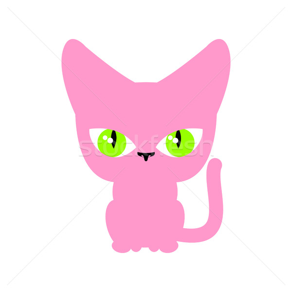 Cat pink isolated. Pet on white background Stock photo © MaryValery
