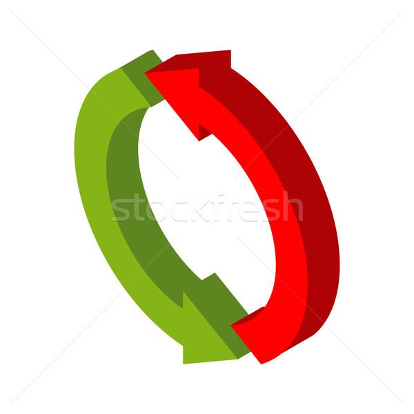Wymiany podpisania symbol odizolowany logo firmy czerwony Zdjęcia stock © MaryValery