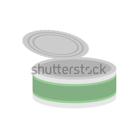 Tin empty open isolated. Can blank on white background Stock photo © MaryValery