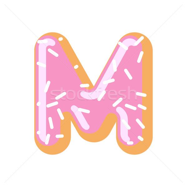 Сток-фото: буква · М · пончик · шрифт · пончик · алфавит · Sweet