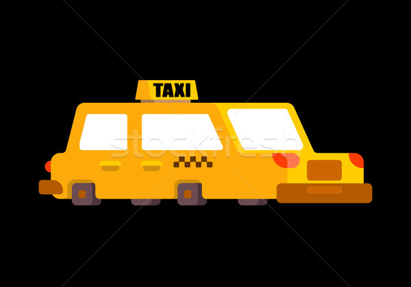 Taxi isolated. Yellow Car Transportation of people Stock photo © MaryValery