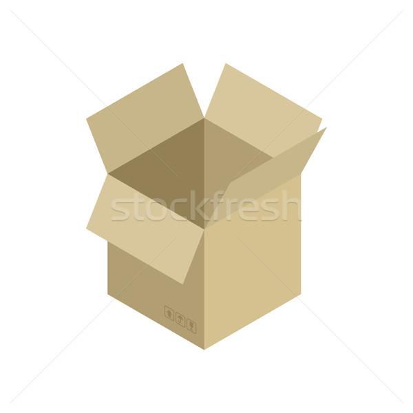 Abrir isolado em movimento papel caixa Foto stock © MaryValery