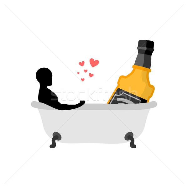 Alcol bere uomo bottiglia whiskey Foto d'archivio © MaryValery