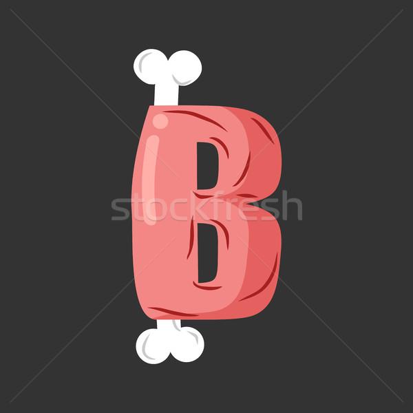 письме мяса шрифт свинина кость алфавит Сток-фото © MaryValery