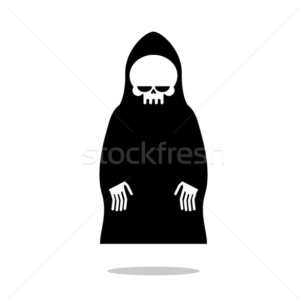 Death cloak hovers above ground. Grim Reaper in black hood. Cute Stock photo © MaryValery