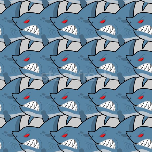 éhes cápa piros szemek végtelenített textúra Stock fotó © MaryValery