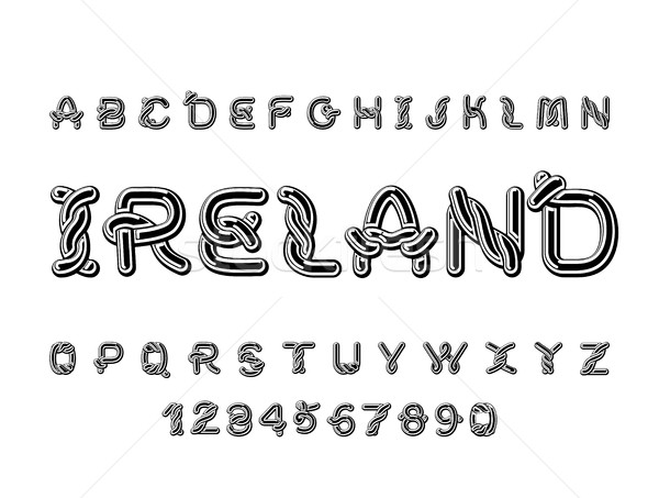 Ireland font. National Celtic alphabet. Traditional Irish orname Stock photo © MaryValery