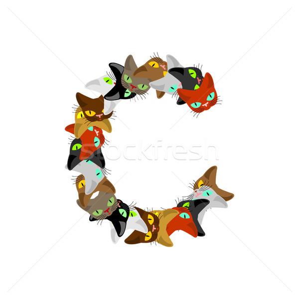 手紙c 猫 フォント ペット アルファベット シンボル ストックフォト © MaryValery