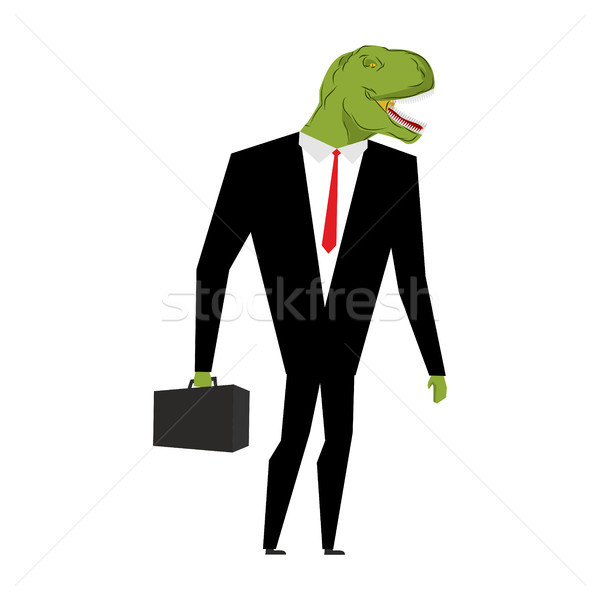 Tyrannosaurus businessman. dinosaur is boss. Dino manager. Suit  Stock photo © MaryValery