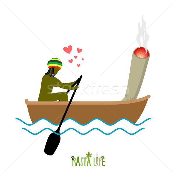 Leven gezamenlijk spelevaren man roken drug Stockfoto © MaryValery