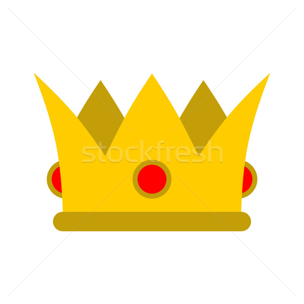 Crown isolated. Royal hat. Gold crown with diamonds flat style.  Stock photo © MaryValery