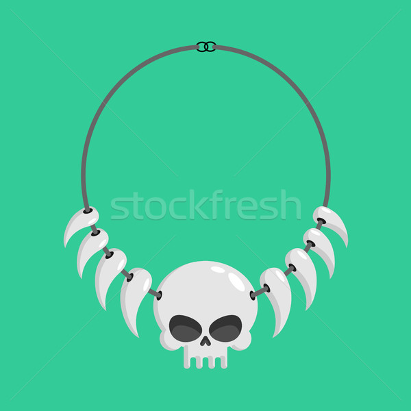 necklace of skulls and tusks. ethnic Decoration indigenous canni Stock photo © MaryValery