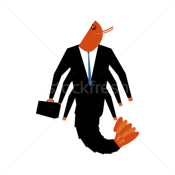 Office plankton isolated. Marine animals in business suit. Manag Stock photo © MaryValery
