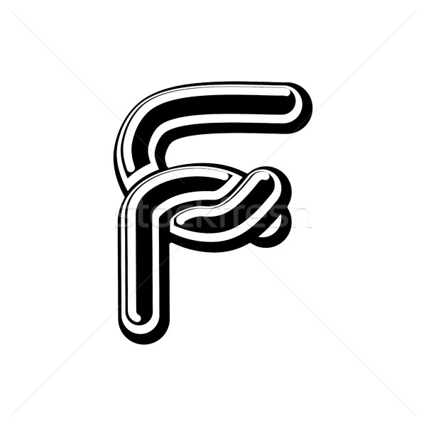 Letter F Celtic font. norse medieval ornament ABC. Traditional a Stock photo © MaryValery