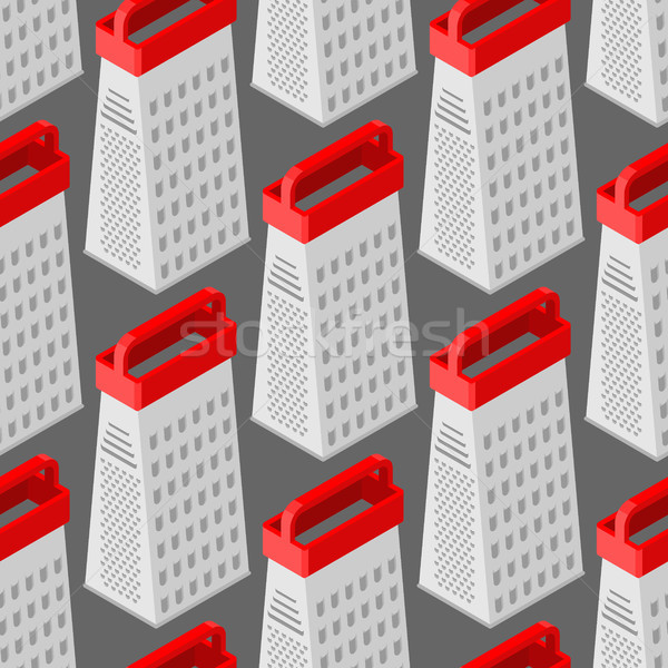 Grater seamless pattern. Kitchen appliances for grinding product Stock photo © MaryValery