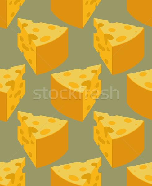 Piece Cheese seamless pattern. Milk product texture. Food backgr Stock photo © MaryValery