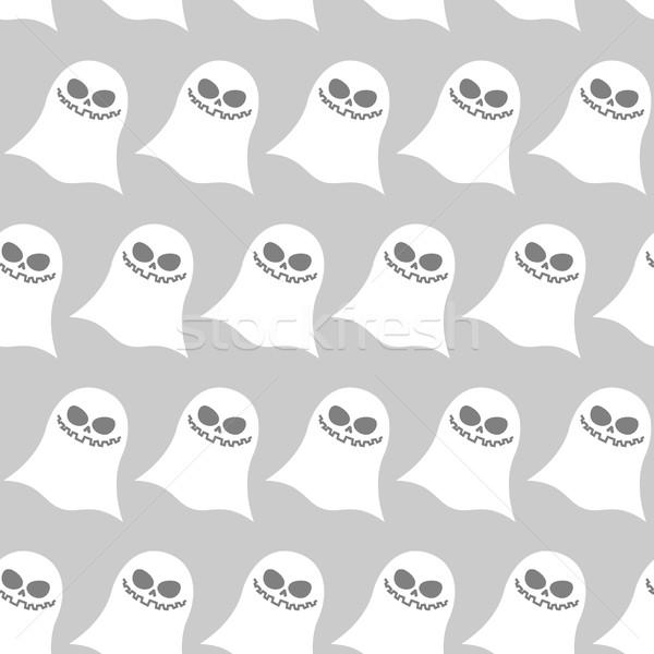 Witte grappig spook vector achtergronden Stockfoto © MaryValery